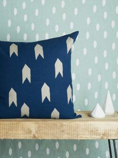 Teal Large Arrow 60cm Cushion Cover - Trouva