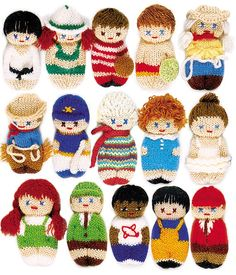 Pocket Pals to knit by hand or machine Pattern Book by ValLove