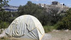 Marble tent in Athens by Rebecca Belmore. #documenta14