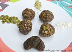 Chocolate Energy Balls (Nut Free/ Vegan/ Grain Free/ Gluten Free/ Dairy Free/ Paleo/ Refined Sugar Free)