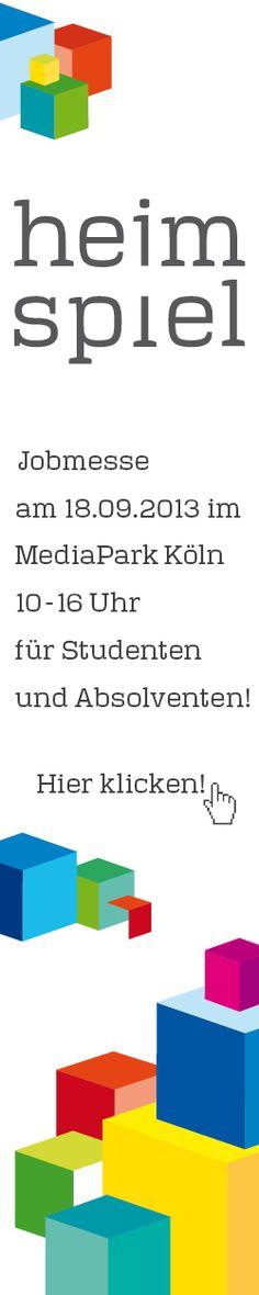 heimspiel - die Jobmesse von kumulus am 18.09.2013 im MediaPark Köln für den Mittelstand aus dem Rheinland und dem Bergischen Land.
