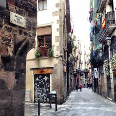 El Gotico, Barcelona. One of Europe's oldest and most beautiful street with it's quirky little bars, cafes and shops it gives you a real feel of Barcelona.
