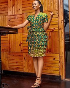 African Dresses For Kids, Latest African Fashion Dresses, African Dresses For Women, African Attire, Women's Fashion Dresses, Ankara Fashion, African Women, African Print Dress Designs, African Print Clothing