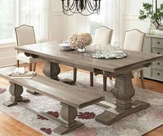 I like this style of dining table