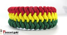 3 color mated snake knot paracord bracelet tutorial.