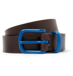 Oliver Spencer Contrast-Buckle Leather Belt | MR PORTER