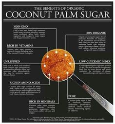 Benefits of Coconut Palm Sugar ~ Not all sugars are created equal. Most people think that sugar is sugar. Sucrose is sucrose. Several studies have shown that different types of sugar have different effects or behave differently in the body. Healthy Tips, Healthy Choices, Healthy Eating, Clean Eating, Healthy Foods, Healthy Sugar, Healthy Cooking, Sugar Health, Healthy Detox