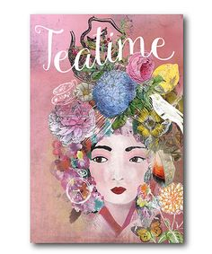 Loving this 'Tea Time' Wrapped Canvas on #zulily! #zulilyfinds
