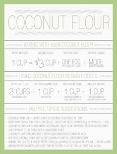 Coconut flour conversion