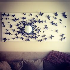 Gossip girl inspired butterfly wall art! Finally finished :)