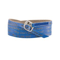 BRACCIALE STASH & THE KOLORS WHY DON'T YOU LOVE ME? BLU WE POSITIVE my437