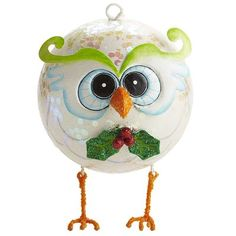 Glitter Owl Ornament very cute I can see this being in a good memory of your mom or grandma's christmas tree.