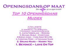 Top 10 Muziektips voor jouw Openingsdans op Maat! Alicia Keys Fallin, Wedding First Dance, Norah Jones, James Blunt, Christina Perri, Never Gonna, Michael Buble, Justin Timberlake, You're Beautiful