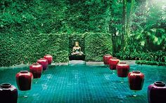 """Chiva-Som Spa, Thailand. Mikesell calls this """"a transformational place"""" where a pilgrim's full range of needs--cosmetic, nutritional and spiritual--are all addressed. """"It treats your whole mind, body and spirit,"""" she says. """"You can totally transform your life, if you're seeking to make a lifestyle change. They help you work on everything under the sun."""" Want your energy read? They can read it. You might want to have your chakras lengthened before you go, just to give the staff more challenge..."""