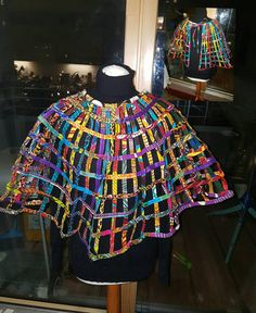 Petiz Ndamoh African Print Net Cape by PetizAccessories on Etsy