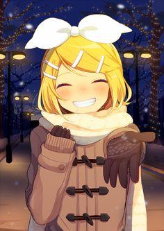 [Kawaii]Winter date [Kagamine Rin Vocaloid] Manga Anime, Manga Girl, Anime Art, Rin E Len, Kagamine Rin And Len, Vocaloid Len, Fille Anime Cool, Vocaloid Funny, Otaku