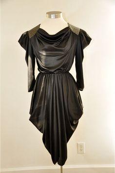 Black Karat Club dress, 80's avant garde inspired.