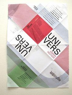 Univers Adrian Frutiger folded POSTER/BOOKLET
