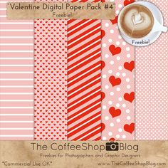 OK, last Valentine freebie for the year. :-)  I made this little cheerful Valentine-themed paper pack a few days ago and I think it is so...