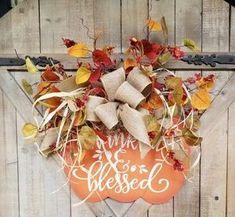 Fall Pumpkin Front Door Hanger