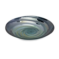 Moody Swirl Glass Tray - Inspired by the ripples of the moody ocean waters and the rich blues of clearest seas, the Moody swirl tray mimics the inside of a treasured clam shell found on a romantic walk on the beach. Food safe.