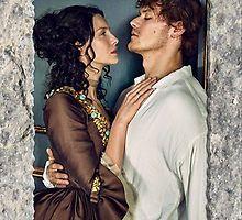 Jamie & Claire in stone frame by Sassenach616                              …