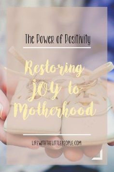 Restoring Joy to Motherhood. If we want to reclaim motherhood as beautiful and important, that we mothers have to present it as such to others.