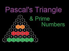 Prime Numbers in Pascal's Triangle - YouTube