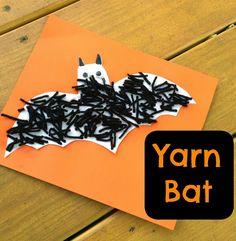 Halloween Kids' Craft: Yarn Bat