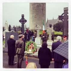 Cumann na mBan Commemoration  British Ambassador to Ireland Dominick Chilcott lays a wreath at the grave of Elizabeth O'Farrell, along with Minister for Arts, Heritage & Gaeltacht Jimmy Deenihan TD, Glasnevin Trust and members of the Defence Forces of Ireland.