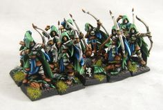 Man, after knocking through my Nurgle army for the OFCC, I've got to say that I am absolutely sick of painting green. So, as a break, I thought I'd paint . Fall Color Schemes, Wood Elf, Got Wood, Fantasy Miniatures, Elves, Sick, Army, Green, Painting