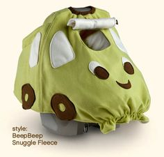 cool car seat cover for bad weather protection. Cute new shower gift.  Or for 5 years from now when we have another.