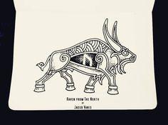Tribal Art Tattoos, Bull Tattoos, Irish Tattoos, Tribal Sleeve Tattoos, Tribal Tattoo Designs, Animal Tattoos, Phoenix Tattoo Design, Skull Tattoo Design, Dragon Tattoo Designs