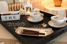 Violet Wool: Vernice lavagna: tea time!