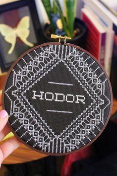 Hodor Cross Stitch Pattern Game of Thrones by PinsandWeevils