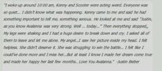 How Justin Bieber found out Avalanna Routh died... :'(