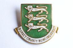 Vintage Dorset County Bowling Association Enamel Pin Badge    eBay