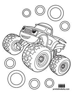 Blaze And The Monster Machines | Printables Baby - Free Cartoon Coloring Pages
