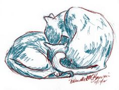 Daily Sketch: Blue-Brown Cats