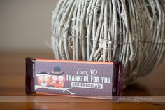 Free Thanksgiving candy bar wrapper