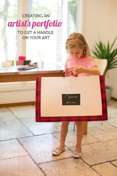 Creating an artist's portfolio with Scotch® Duct Tape to get a handle on your children's artwork.