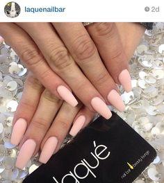 Peach matte nails #laquenailbar