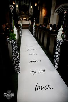 """""""I have found the one whom my soul loves...""""    Song of Solomon 3:4.  We specialize in painting Scripture and Bible verse on wedding aisle runners.  All our runners are made of real fabric!  Designing the Aisle ~ Runners with Style"""