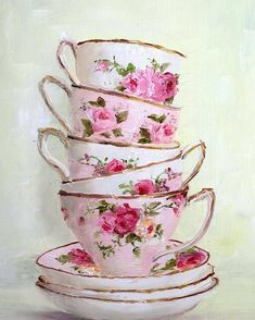 Tea Cup Art, Pink Tea Cups, All Poster, Posters, Decoupage Printables, Antique Tea Cups, Decoupage Furniture, Thing 1, Shabby Chic Decor