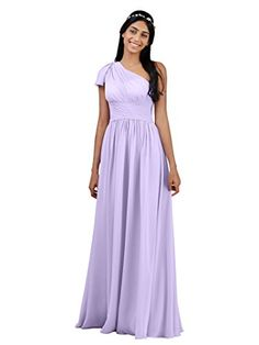 38d8dd39941 AWEI Chiffon Bridesmaid Dress Plus Size Lilac Purple Long... https
