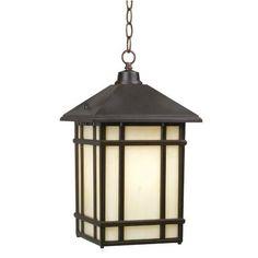 """J du J Mission Hills 16 1/2"""" High Outdoor Hanging Light"""