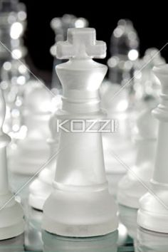 king of chess - Close-up shot of crystal chess king