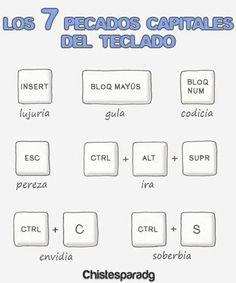 Los pecados del teclado  #BibUpo #Humor