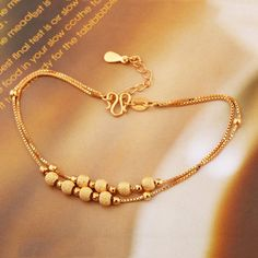 Buy Psy Charm Women's Fashion Bracelets 925 Silver Jewelry Sterling Silver Beads Anklets Shinning 2016 at Wish - Shopping Made Fun Gold Chain Design, Gold Bangles Design, Gold Earrings Designs, Gold Jewellery Design, Gold Jewelry Simple, Silver Jewelry, Silver Beads, 925 Silver, Sterling Silver