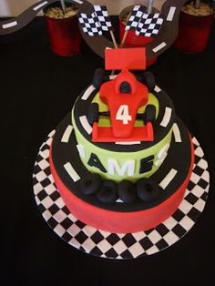 Every little boy needs to have at least one of his birthdays dedicated to cars. Whether it's transport or racing or the ever popular Disne. Racing Cake, Race Car Cakes, Truck Birthday Cakes, Army Party, Vanilla Essence, Cake Decorations, Cake Ideas, Fondant, Birthdays